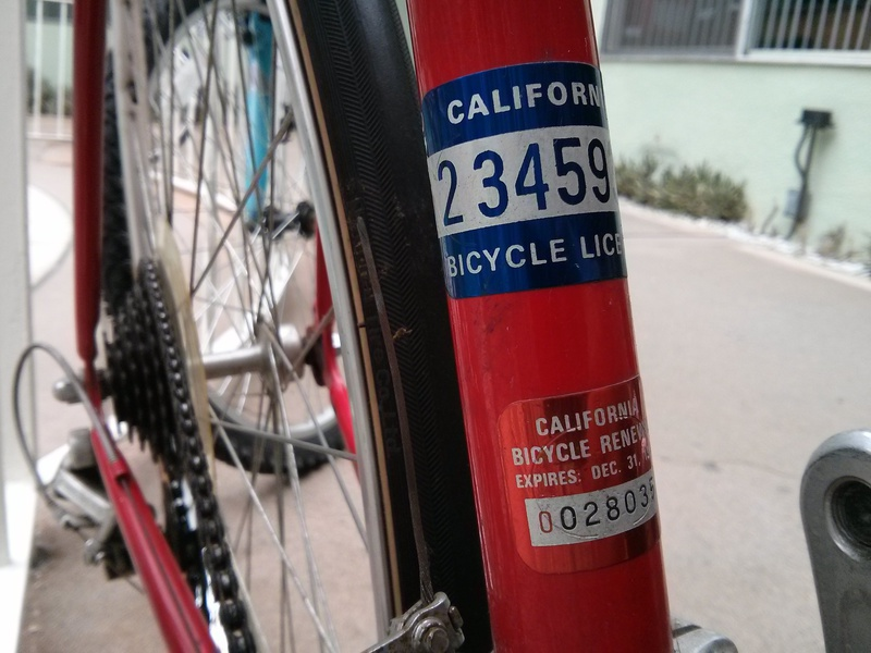 California bike license